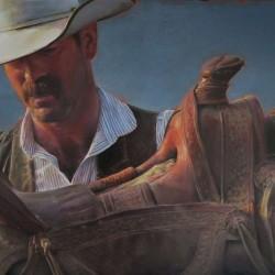"Saddle Stiff | 18"" X 24"" | Oil on Birch"
