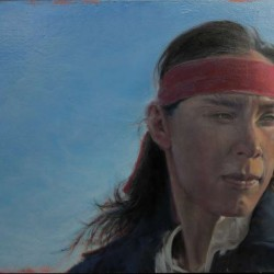 Apache | 12″ X 21″ | oil on Birch