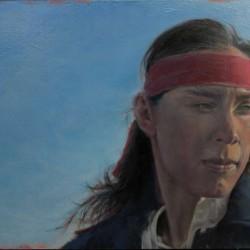 Apache | 12″ X 21″ | oil on Birch